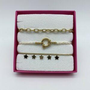 coffret de bracelets en acier Stella